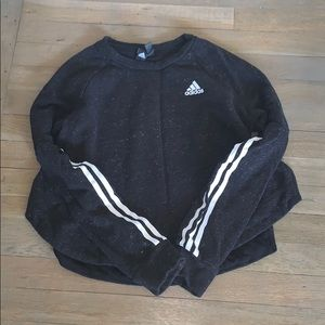 An adidas hoodie cropped